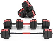Soges 66 Pounds Adjustable Dumbbells-Pair, Iron Sand Mixture Octagonal Designed, Anti Rolling Fitness Dumbbell