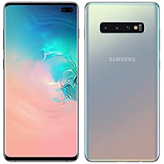 "Samsung Galaxy S10+ Plus 128GB+8GB RAM SM-G975F/DS Dual Sim 6.4"" LTE Factory Unlocked Smartphone International Model No-Warranty (Prism Silver)"