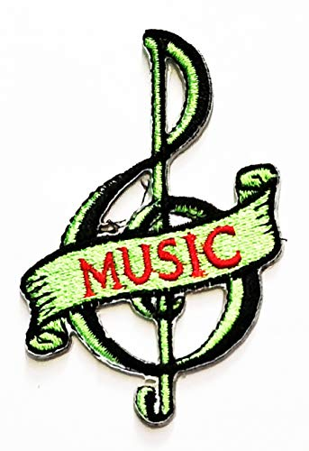 Nipitshop Patches Green Musical Notation Music Note