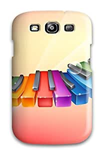 Hot Tpye Rhythmic Colorful Piano Case Cover For Galaxy S3