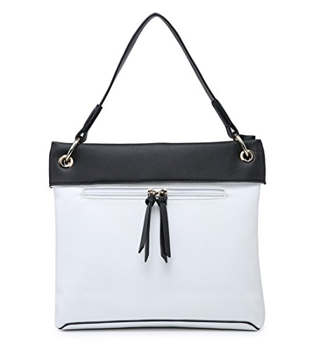 Elegant Bolso mujer para Blanco hombro al Fashions nAzqTR