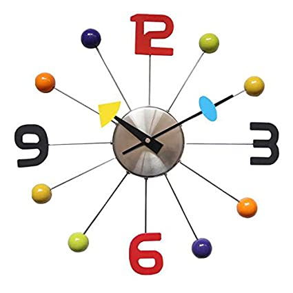 FunnyToday365 Metal Wall Clocks Modern Design Reloj De Pared Wall Watches Clock Living Room Wandklok Christmas