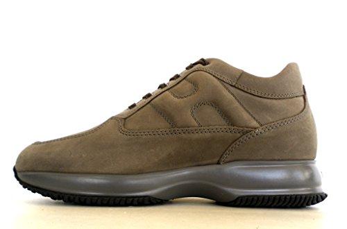 Hogan scarpe uomo interactive allacciato modello HXM00N00010DSCC407 palude vintage
