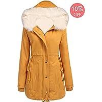 4da70f44c4d Beyove Women Winter Warm Hoodie Faux Fur Lined Down Parka Outdoor Long Jacket  Coats
