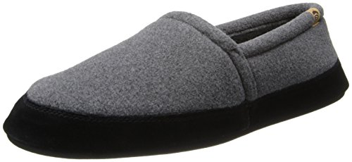 ACORN Mens Moc Slipper Charcoal