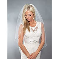 Rhinestone Trim Wedding Veil