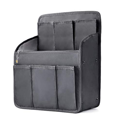 Vertical Nylon Backpack - bag in bag Multi-functional Contrast Bag Shoulders Bag Rucksack Insert Backpack Organizer,Black