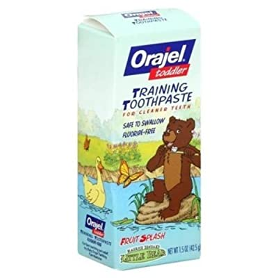 Orajel Toddler Training Toothpaste, Fruit Splash - 1.5 Oz
