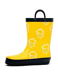 Outee Color Changing Rubber Rain Boots for Little Kids Boys Girls