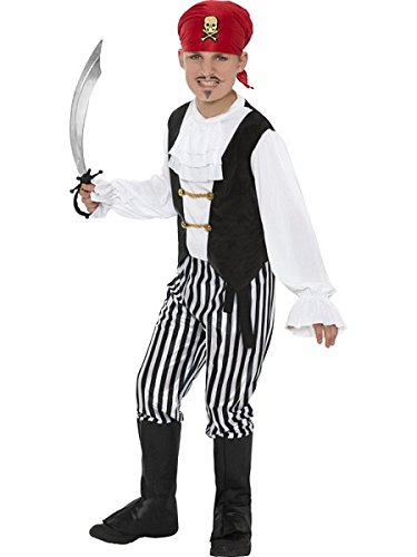 [Large Boys Pirate Costume] (Halloween Costumes Age 12 Uk)