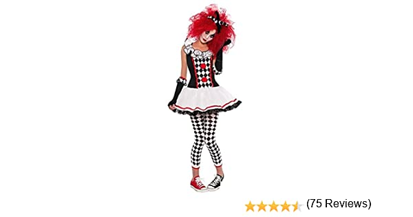amscan- Teen Cherry Harlequin Costume-Age 10-12 Years-1 Pc Disfraz ...
