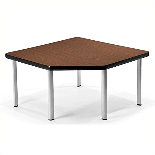 OFM ET3030-MHGY-SLG Corner Table with 5 Legs, Mahogany