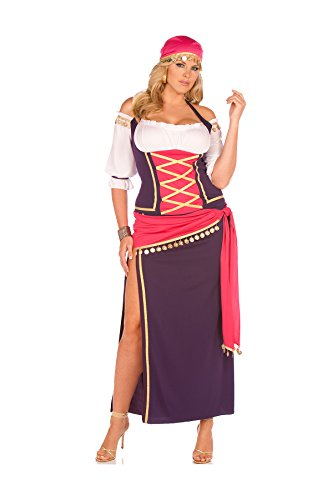Gypsy Maiden Plus Costumes - Gypsy Maiden Costume - Plus Size 1X/2X - Dress Size 18-22