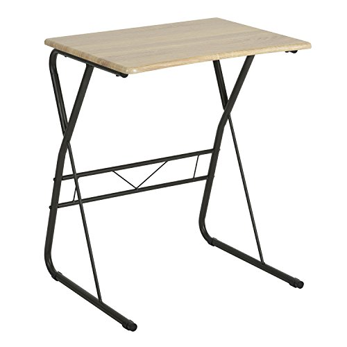 TV Trays Portable Writing Desk Utility Computer Children's Reading Table Portable Laptop Desk Saving Spaces Pinewood Desk Surface Sturdy Metal Legs (Tray Utility Large)