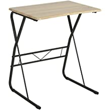 TV Trays Portable Writing Desk Utility Computer Children's Reading Table Portable Laptop Desk Saving Spaces Pinewood Desk Surface Sturdy Metal Legs