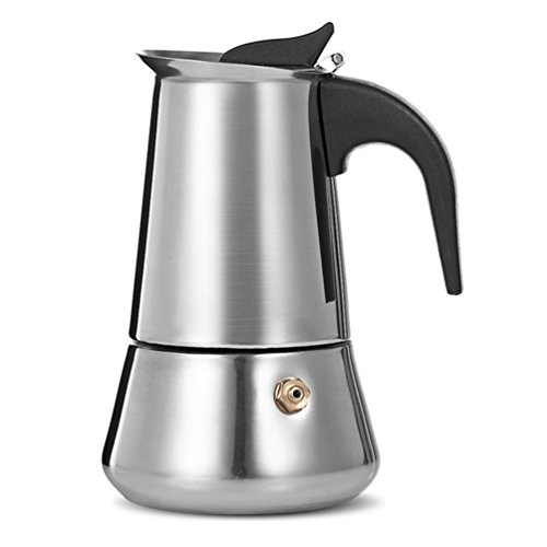 Uarter Stainless Steel Stovetop Espresso Maker Moka Coffee Pot Coffee Maker, 4 Demitasse Cup(2 oz)/200ML