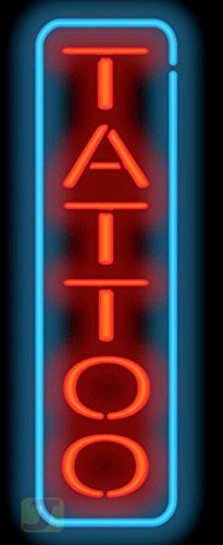 Tattoo Neon Sign - Vertical by Jantec Sign Group