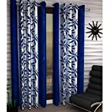 Polyester Floral Door Curtain - Set of 2