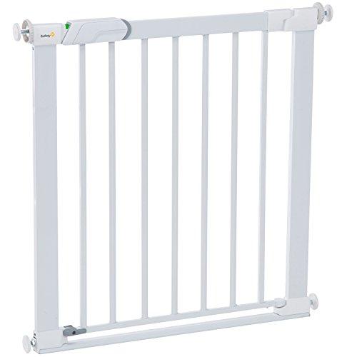 Safety 1st 2443431000 Barriere Flat Step Metal White Veiligheidshekje, Ideaal Voor Kinderen En Huisdieren, Wit, 80 x 73…