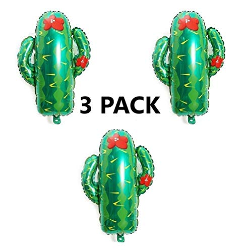 3 Pack of Large Cactus Balloons 29