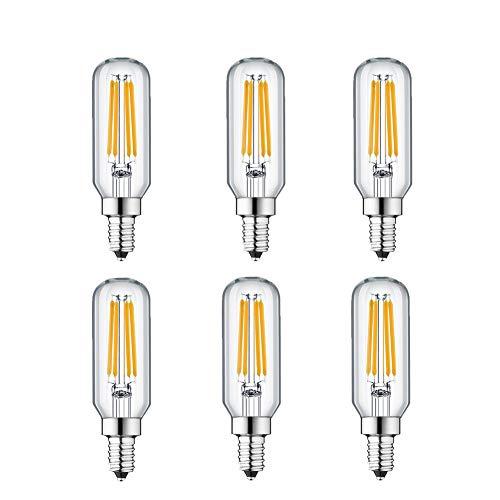 KunstDesign LED Candelabra Bulb 4W 6Pack LED Bulbs Dimmable 3000K Warm White Bulb with 400 Lumen, E12 LED Bulb Candelabra Base 40 Watt Equivalent T25 Tubular Bulbs Shape by KunstDesign (Image #7)
