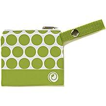 Lunchskins Reusable Mini Zip Bag, Green Dot