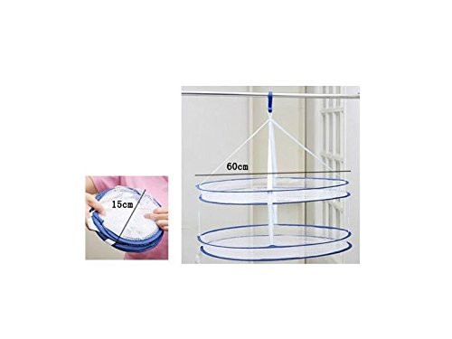 Zehaer House Double Layer Drying Rack Folding Hanging Clothe