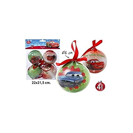 Disney Cars Christmas Decorations.Disney Cars Christmas Baubles Christmas Tree Decoration 4 Tlg 8 Cm