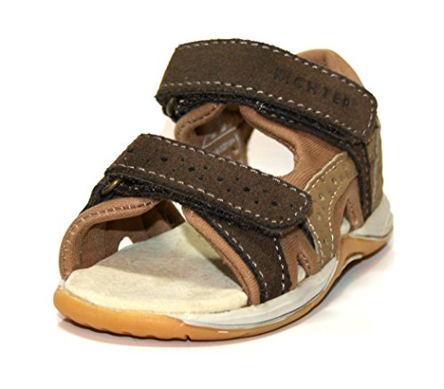 Richter Kinderschuhe - Sandalias de vestir de Piel para niño Marrón marrón 21 Marrón - esp/corn/desrt