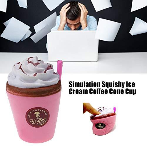Canaan/_Z Simulation Squishy Ice Cream Caf/é C/ône Coupe Simulation Glace Tasse de cr/ème