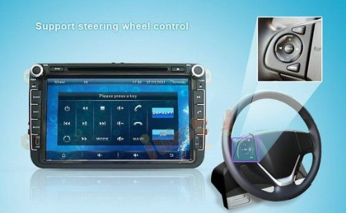 8 inch Touch screen Volkswagen DVD Player GPS Navigation for VW Jetta,VW Golf,VW Passat with DVD/GPS/PIP/3D/Game/AnalogTV/Bluetooth/ BT music/Ipod/BT telephone book/CANBUS (camera view),Steering Wheel Control by EinCar (Image #7)