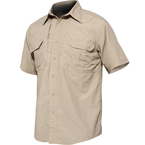 帝国穴創造TACVASEN アウトドア メンズ シャツ 速乾 t-シャツ UVカット カジュアル 半袖 ボタンダウン シャツ