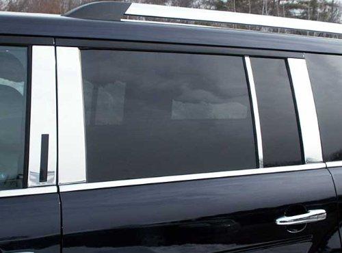 PP49342 QAA FITS Flex 2009-2019 Ford 8 Pc: Stainless Steel Pillar Post Trim Kit, 4-Door, SUV
