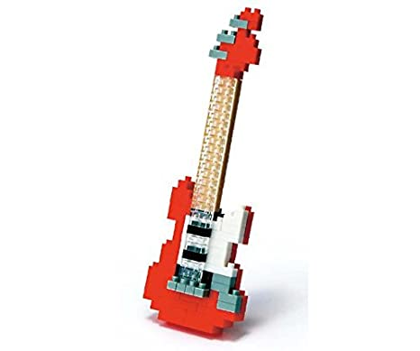Kawada Micro-clasificada bloque de construcción nanoblock - Música temáticas Guitarra eléctrica roja: Amazon.es: Juguetes y juegos