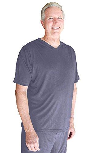 M-XXL Cool-jams Mens Wicking Short Sleeve Crew Neck Pajama T-shirt Separate