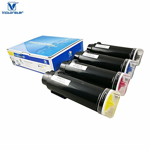 VICTORSTAR Compatible Xerox 6510 / 6515 Toner Cartridge ( BK + C + Y + M ) 4 Colors The Highest Yield 5500 pages & 4300 pages for Printers Xerox Phaser 6510 WorkCentre 6515 ( 4 Colors ) (Color Phaser)