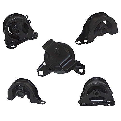 Engine Acura Motor New Mount (5 Piece Set Engine & Transmission Motor Mount Kits Replacement for Honda Civic 1.6L 50810-SR3-983 50824-S04-013)