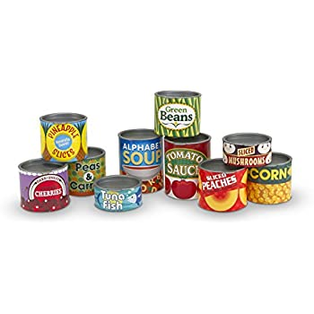 Melissa Doug Let 39 S Play House Grocery Cans Play Food Kitchen Accessory 10