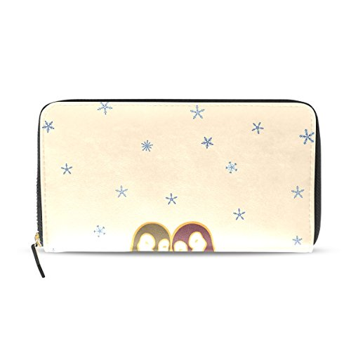 Wallet Clutch Credit Purse Bennigiry Long Couple Lady Penguin Card Holder xfFwqI6