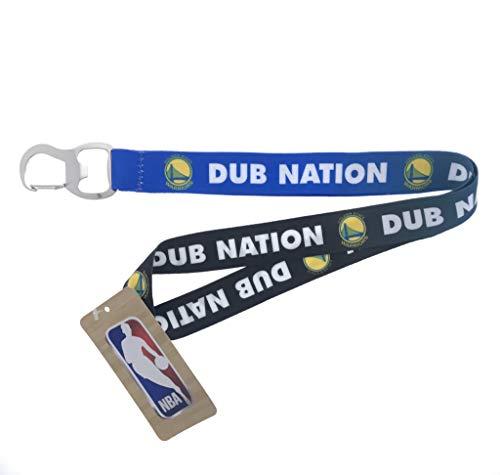 (PSG INC Basketball Sports Lanyard with Bottle Opener (Warriors Dub Nation))