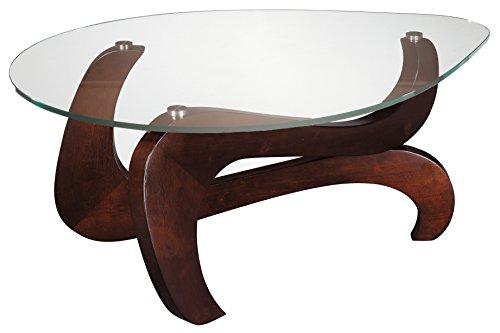 Stein World Furniture Nassau Shaped Cocktail Table, Rich Merlot ()