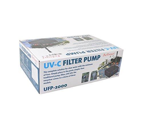 Jebao UFP-2000 Submersible Pond UV Filter, Black