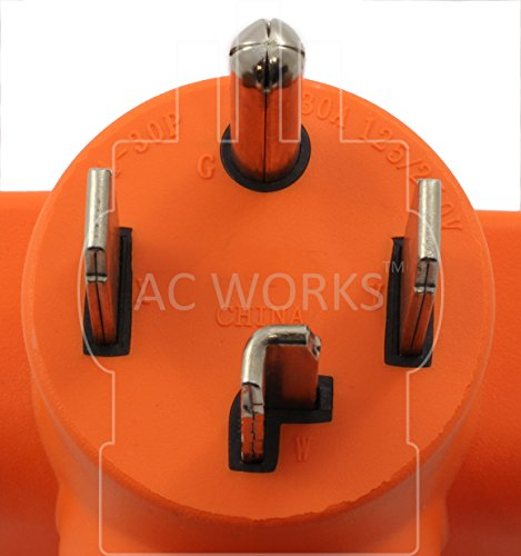 AC WORKS [WD1430650] 30Amp 4-Prong 14-30P Dryer Plug to 6-50R 50Amp 250V Welder adapter by AC WORKS (Image #2)