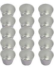 Fortspang - Moldes de Aluminio anodizado para pudín, 15 Unidades, antiadherentes, Ideales para Hacer Dulces y salados