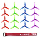 quad copter propeller - DALPROP 16pcs Cyclone T5046C 5046 3 Blades (5.0 x 4.6) CW CCW Propeller for FPV Racing Quadcopter Frame Kit (4sets, mix color)