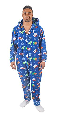 Forever Lazy Adult Onesie - Happy Holidaze - XS