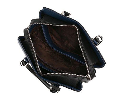 Wittchen Borsa elegante, Blu Marino - Dimensione: 24x31cm - Materiale: Pelle di grano -Accomoda A4: Si - 85-4E-208-7