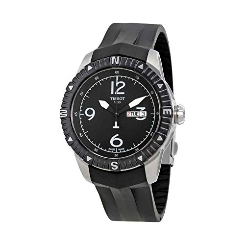 (Tissot Men's 'T Navigator' Black Dial Black Rubber Strap DateDay Automatic Watch T062.430.17.057.00)