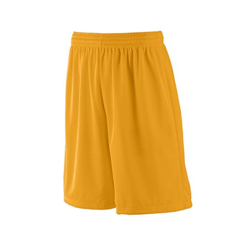 - Augusta Activewear Long Tricot Mesh Short/Tricot Lined, Gold, XXXXX Large