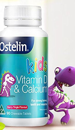 Apple and tea @Ostelin Vitamin D and Calcium Kids Chewable 90 tablets berry tringle flavor